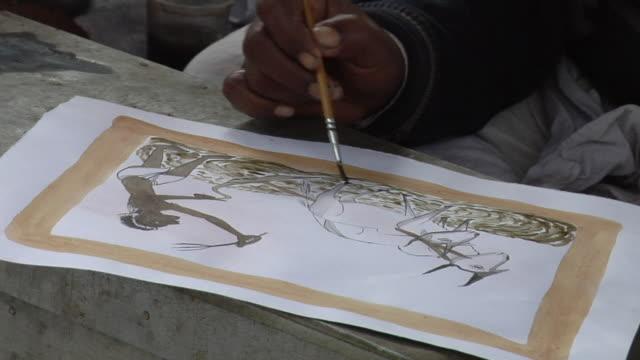 CU Man painting / Faridabad, Haryana, India