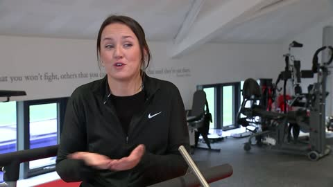 man paralysed in rugby accident helping other injured sportspeople; england: leicestershire: int feet as along treadmill sophie wilson along... - cutaway video transition stock videos & royalty-free footage