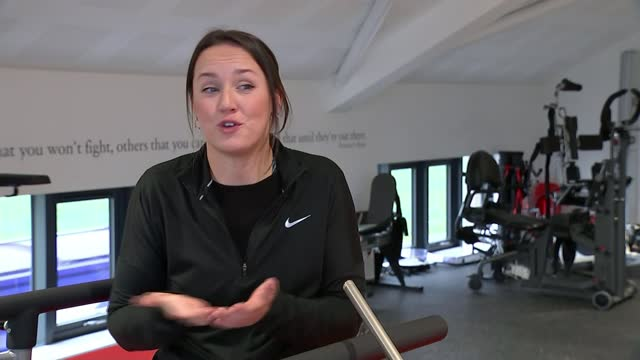 man paralysed in rugby accident helping other injured sportspeople; england: leicestershire: int feet as along treadmill sophie wilson along... - beneficiary stock videos & royalty-free footage