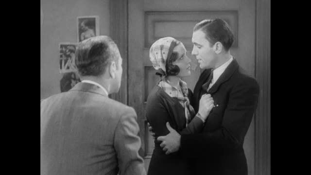 1931 man passively proposes again to woman - 1931 stock videos & royalty-free footage