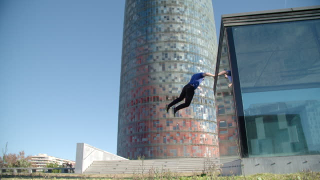 Man performing jump parkour style - Sport Concepts