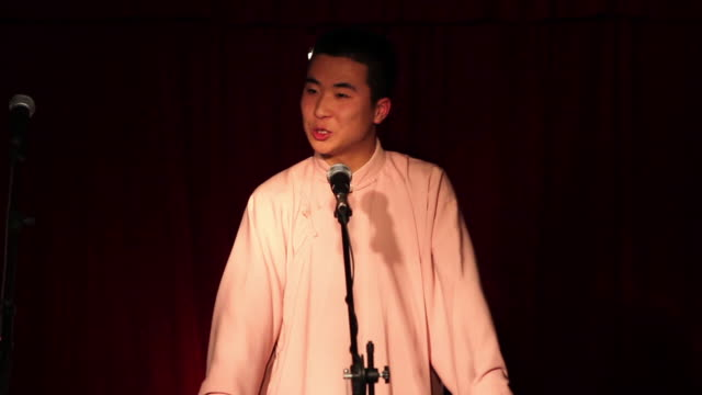 ms man performing peking repartee in monolog traditional chinese comic talk show audio / xi'an, shaanxi z, china - talk show stock videos & royalty-free footage