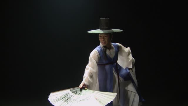 MS Man performing traditional dance 'Hanryangmu' / Seoul, South Korea