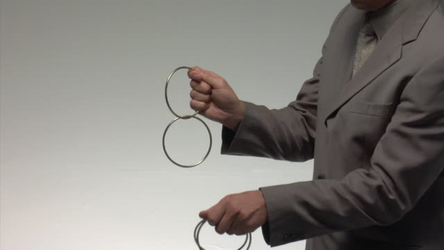 ms man performing trick with rings - interlocked stock videos & royalty-free footage