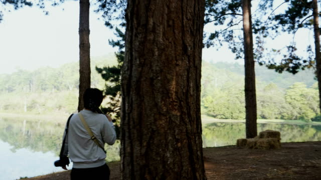man photographer walking in beautiful nature - mae hong son province stock videos and b-roll footage