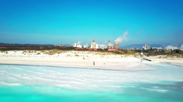 man piloting the drone at the seaside - radio controlled handset stock videos and b-roll footage