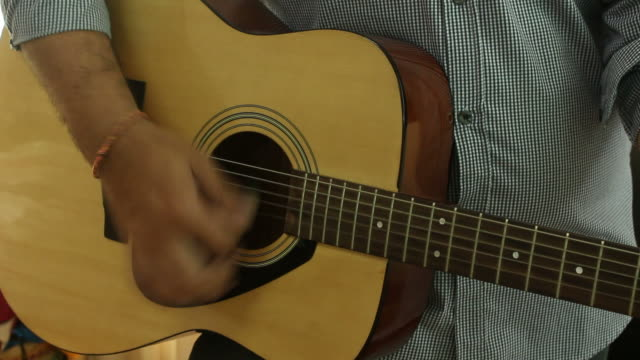 man play the guitar - fretboard stock videos & royalty-free footage