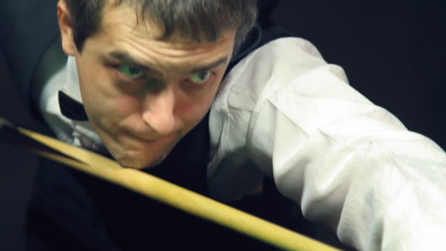 man playing billiard (snooker) - film montage - see other clips from this shoot 31 stock videos & royalty-free footage