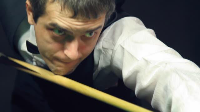 Man playing billiard (snooker) - Film Montage