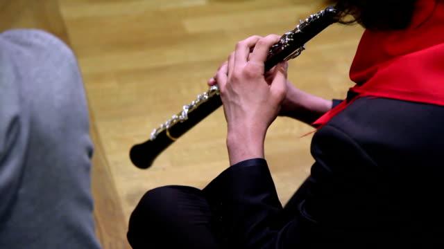 man playing clarinet - clarinet stock videos & royalty-free footage