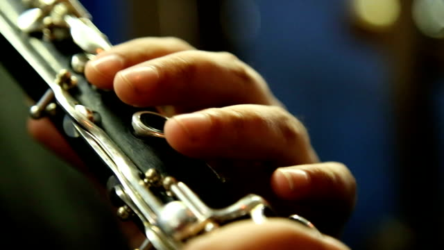 man playing clarinet - orchestra stock videos & royalty-free footage