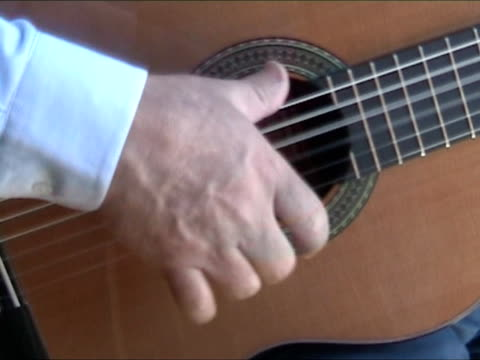 man playing clasic guitar - flamenco dancing stock videos and b-roll footage