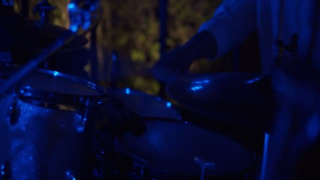 man playing drums - drum kit stock videos & royalty-free footage