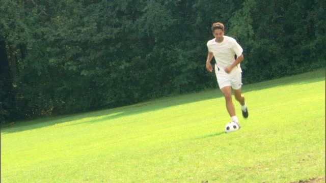 Man playing game of soccer