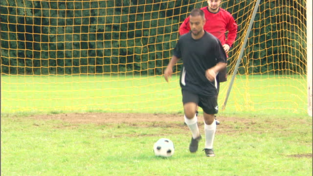 man playing game of soccer - see other clips from this shoot 1280 stock videos & royalty-free footage