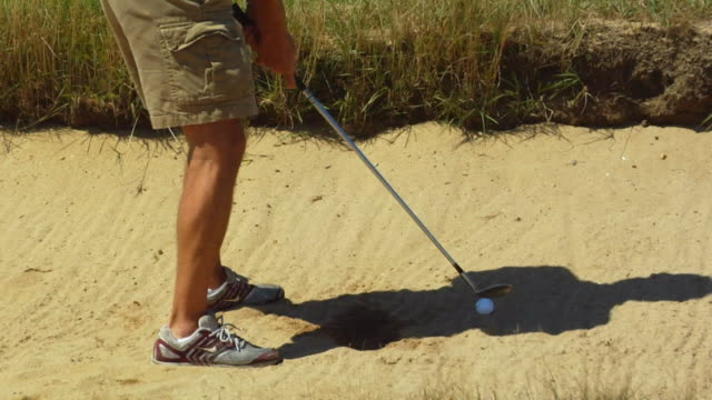 cu, tu, man playing golf, north truro, massachusetts, usa - shorts stock videos & royalty-free footage