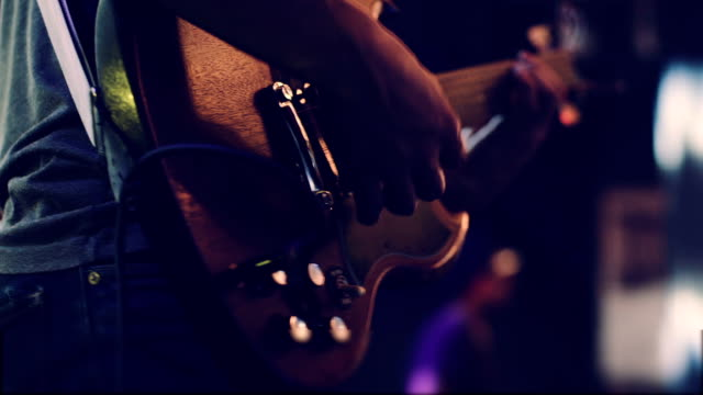 man playing guitar close up - live event stock videos & royalty-free footage