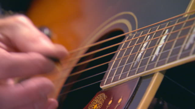 man playing guitar, extreme close up - fretboard stock videos and b-roll footage