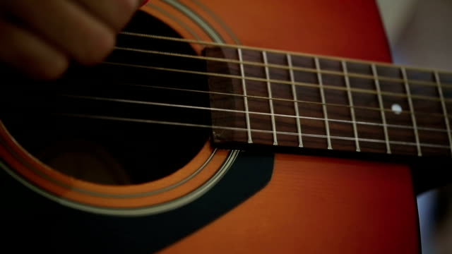 man playing guitar - portable stereo stock videos & royalty-free footage