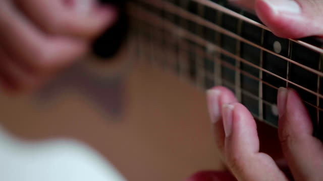 man playing guitar - guitar stock videos & royalty-free footage