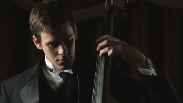 man playing the bass cello - rehearsal stock videos & royalty-free footage