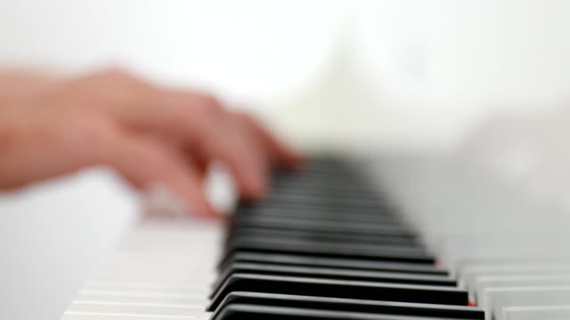 man playing the piano - piano stock videos & royalty-free footage