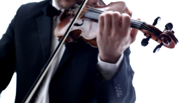 stockvideo's en b-roll-footage met man playing violin - hemden en shirts