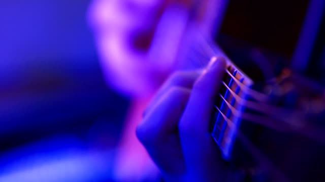 man plays acoustic guitar - musician stock videos & royalty-free footage