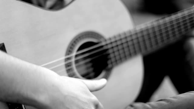 man plays classical guitar, flamenco - flamenco stock videos & royalty-free footage