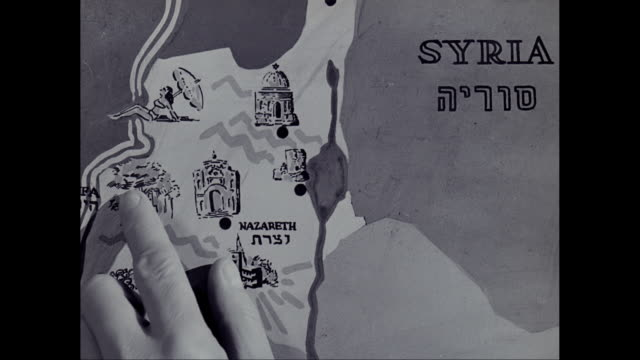 cu ts man pointing on map of israel, labanon and syria / israel - middle east stock videos & royalty-free footage