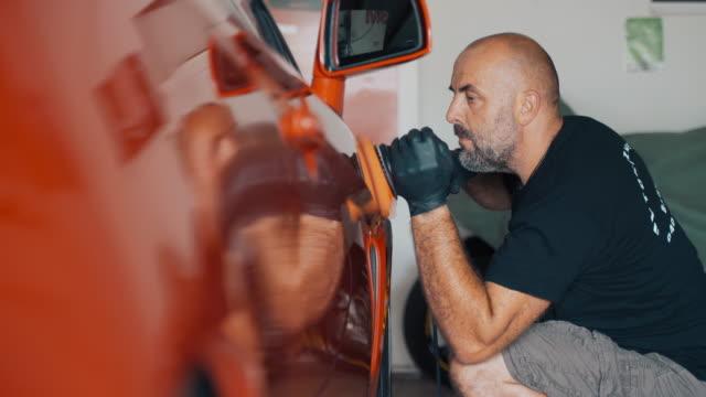 ms man polishing car - admiration stock videos & royalty-free footage