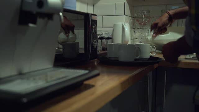 man pouring milk - jug stock videos & royalty-free footage