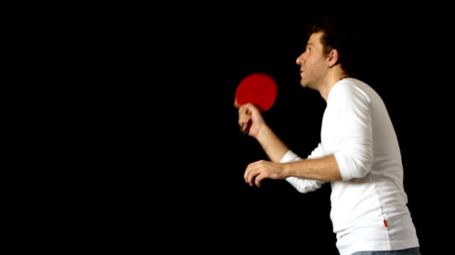 man practising table tennis - table tennis stock videos & royalty-free footage