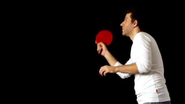 man practising table tennis - table tennis bat stock videos & royalty-free footage