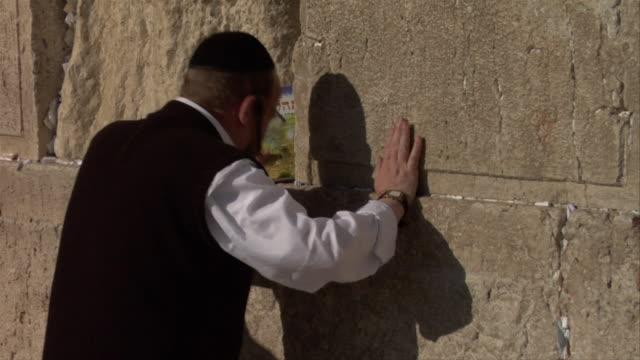 man praying - judaism stock videos and b-roll footage