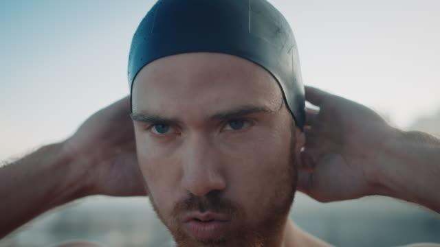 Man preparing for swimming
