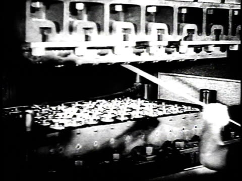 1940 ms man processing soybeans / united states - 1940 stock videos & royalty-free footage