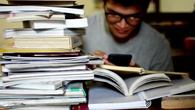 man reading an e-book