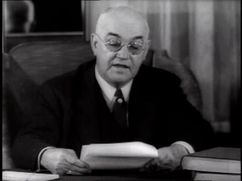 man reads statement about birth control in the united states in reference to disagreement with the opposition from roman catholic church on december... - 1935 stock videos & royalty-free footage