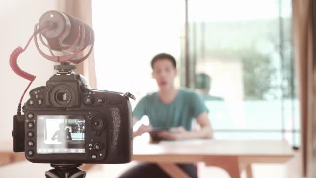 man recording video for diy stuff preparation - video recorder stock videos & royalty-free footage