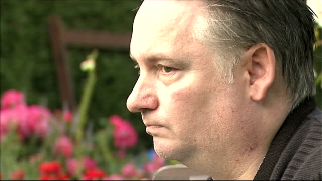 man recovers following lifesaving operation on tumour missed repeatedly by gp 772011 essex romford ext general views terry purkiss in garden terry... - scar stock videos and b-roll footage