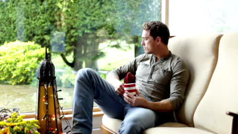 man relaxing at home - hot drink stock videos & royalty-free footage