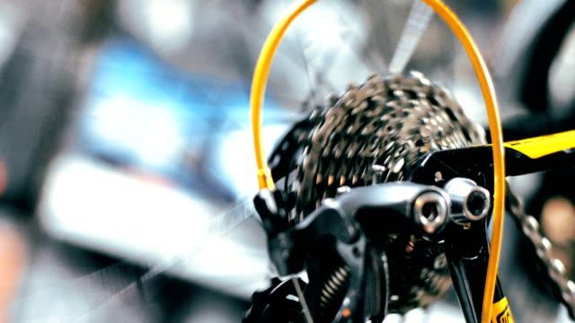 man repairing bike - lubrication stock videos & royalty-free footage