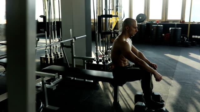 Menschen, die Erholung nach dem training