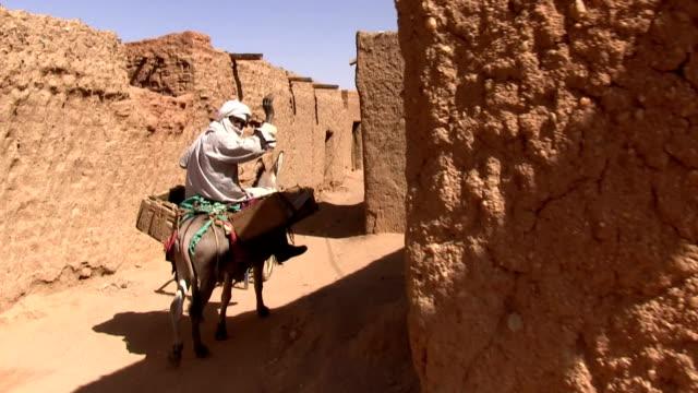 Man rides a donkey Niger Agadez