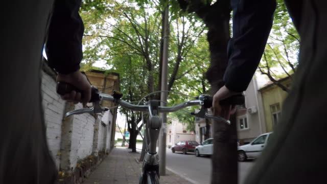 man riding a bike - brake stock videos & royalty-free footage