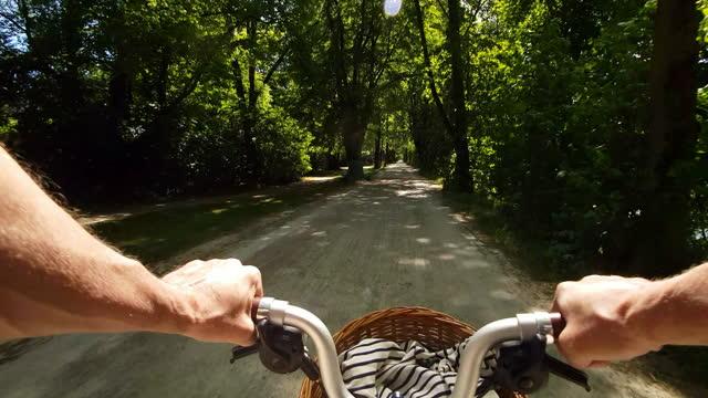 公共公園を通って自転車を折る男 - サイクリングロード点の映像素材/bロール