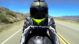 POV Man Riding Motorcycle