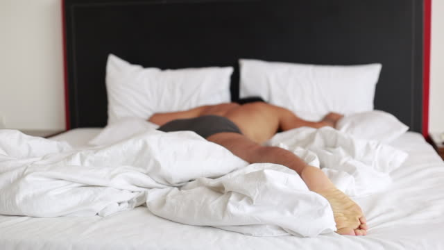 a man run into the bed - exhaustion stock videos & royalty-free footage