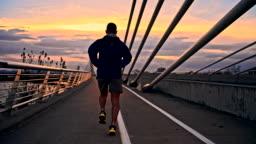 TS Man Running Across The Bridge